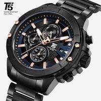 럭셔리 남성 시계, 쿼츠 시계, 방수, 강철 T5 H3636