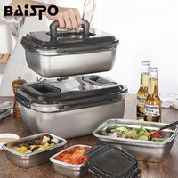 BAISPO NEUE KOREANISCHES MUNSUNITÄT LUNKE INDUCTION Herken Heizung Lebensmittelbehälter 304 Edelstahl Bento Box Küchenzubehör 201210