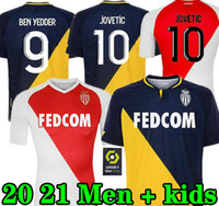 New 2020 2021 Fabregas AS Monaco Ben Yedder 축구 유니폼 Jovetic Golovin 20 21 Maillot de Foot Flocage Jorge Football Shirt