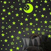 132 / 188pcs / lote brilho no escuro brinquedos luminous estrela adesivos quarto sofá fluorescente pintura brinquedo pvc adesivos para crianças sala1