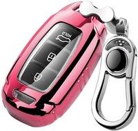 Touche de voiture FOB Cover Fit pour Hyundai, Kona Veloster I30 IX35 Alliage Keychain rose