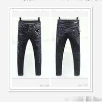 Dsquared2 Hommes Droite Droite Jeune Pantalons Long Pantalons Mens Véritable Ligne grossière Religion D2 Jeans Vêtements Homme Casual Crayon NleDsqDsq2Dsquared