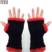 Fünf Fingers Handschuhe 2021 Winter Frauen 100% Natürlich Gestrickte Handschuh Weibliche Mitts Elastizität Damenmode Echt style11