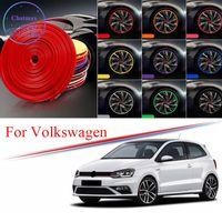 8M Multi-Colores Hub Hub Gordure de jante pour VW Tiguan Polo Lavida Sharan Passat Passat Golf Edge Bague Bague Pneu Pierre Stickers en caoutchouc