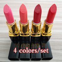 Maquiagem Quente Famosos 4 Pçs / Set Lip Maquiagem De Maquiagem Matte Batom 4Color Lip Sticks Compõem Lábios Cosméticos Kit Freeshipping
