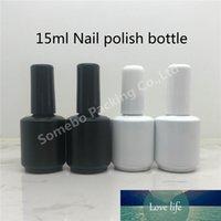 20 x 15 ml Siyah Frost Beyaz Boş Oje Cam Şişe 1 / 2oz Tırnak Emaye Konteynerler Cam Şişe