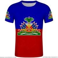 아이티 티셔츠 DIY 무료 사용자 정의 이름 번호 HTI T- 셔츠 국기 국가 HT 프랑스어 아이티 공화국 대학 인쇄 사진 의류 LJ200827