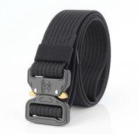 Taille Support Black Metal Boucle Casual Pantalon tactique pratique pour hommes Véritable Nylon True Nylon Travel Sport Sport