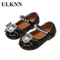 Плоские Обувь Ulknn Кожа для девочек Детские Моды Квартиры Детские 2021 Весна Летняя Принцесса Вечеринка Повседневная Обувь Обувь Круглый Ног
