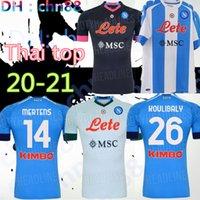 20 21 NAPOLI MARADONA JERSEY COCCER 2020 2021 Napoli Koulibaly Camiseta de fútbol Insigne Milik H.lozano Mertens Third Black Football Camicia