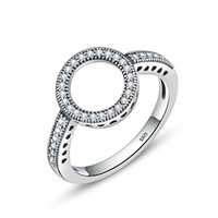NUOVO S925 Sterling Silver Womens intarsiato Ring Size 7