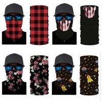Cráneo bufanda mágica tela escocesa del rojo del pañuelo media mascarilla 24 * 49cm diadema turbante de esquí Ciclismo CYZ2917 Máscara