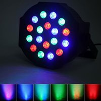 24W 18-RGB светодиодный автоматический / голосовой контроль DMX512 Высокая яркости Мини-сценическая лампа (AC 100-240V) Черный * 2 движущихся верхних класса.