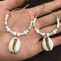 Dangle Chandelier Fresh Natural Shell Orecchini Grandi orecchini in metallo Gioielli di moda 2021 Gadget per le donne Regalo di Natale Romantico1