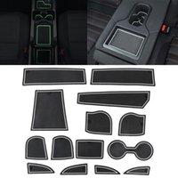 자동차 워터 컵 게이트 슬롯 매트 Mazda CX-3 2018 용 플라스틱 화이트 Luminous Anti-Slip Interior 문 패드