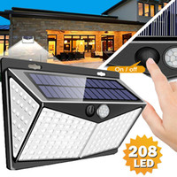 208 LED Solar Power Lights PIR Motion Sensor Wall Lamp Garde...