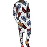 Dashiki طباعة الرجال قمصان طويلة + بنطلون مخصص بانت مجموعات أنقرة الأزياء الذكور العريس الدعاوى زائد الحجم الأفريقي حزب الملابس 201130