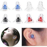 1 pair المحمولة سيليكون الأذن المقابس الصوت عزل الأذن حماية الأذن سدادات مكافحة الضوضاء الشخير سدادات النوم للضوضاء