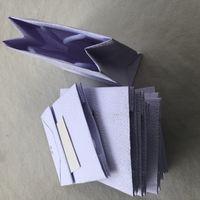 쥬얼리 가방 파티 선물 포장 가방 부티크 포장을위한 15x6cm 화이트 C 종이 핸드백