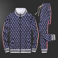 gucci الرجل الملابس 2020 رجل العلامة التجارية عرق بدلة ربيع الخريف بأكمام طويلة اثنان من قطعة ومجموعة خريف رياضية الركض الستر + السراويل 0121 ARGUK