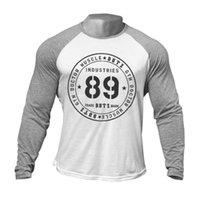 Männer T-shirt Baumwolle Fitness Bodybuilding Langarm Sport Top Mode Lässige Marke Frühling Herbst Neue Jogging Männlich Ciothing 201116