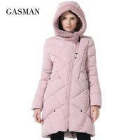 Gazman 2020 Koleksiyon Marka Moda Kalın Kış Biyo Aşağı Ceketler Kapüşonlu Kadın Parkas Coats Artı Boyutu 5XL 6XL 1702