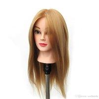"""Capelli sintetici 24 """"Salon Parrucchiere Mannequin Practice Training Head Osmetology Mannequin Testa con supporto per capelli"""