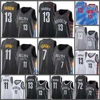 Brooklyn.Net James 13 Harden Kyrie Mens 11 Irving 2021 Kevin Novo 7 Durant Basketball Jersey 72 Biggie Branco