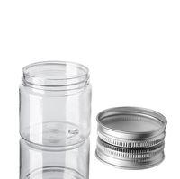 60 мл пластиковые банки пластиковые прозрачные PET пластиковые банки для хранения банок с круглой бутылкой с алюминиевыми крышками пустой косметический банок контейнер CCA3160
