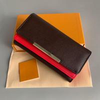 Toptan Kırmızı Dipler Luxurys Lady Uzun Cüzdan Renkli Çanta Tasarımcılar Sikke Çanta Kart Tutucu Orijinal Kutusu Erkek Kadın Klasik Fermuar Cebi