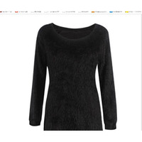 Axs Sweater عبر الحدود الأوروبية والأمريكية شعبية بلون طويل الأكمام جولة الرقبة المرأة الصوف الضأن الأعلى مصنع wh201114