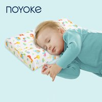 Noyoke Kids Pillow Natural Latex Baby Bed Cuscini per il sonno dei cartoni animati stampa cuscini per bambini per 0-12 anni T200603