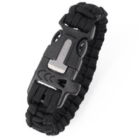 Neue 4 in 1 Multifunktions-Fallschirm-Kabel-Survival-Armband mit Survival Whistle Messerklinge Cord Paracord Emergency-Armbänder EDC-Werkzeug