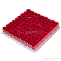 Toptan 81 adet / kutu El Yapımı Gül Sabunu Yapay Kurutulmuş Çiçekler Anneler Günü Düğün Sevgililer Günü Noel Hediyesi Dekorasyon Ev için