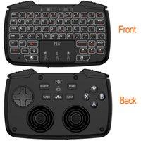 2.4 جيجا هرتز مصغرة لوحة مفاتيح الألعاب اللاسلكية مع لوحة اللمس لعبة تحكم DPAD ABXY زر L1 R1 L2 R2 Turbo وظيفة للتلفزيون مربع PC3 LJ200922