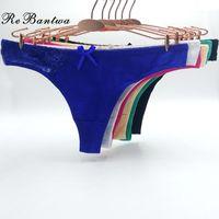 Rebantwa 10 adetgrup Kadınlar Seksi G-Strings Thongs Dizeleri Pamuk Kadın Iç Çamaşırı Intimates Kadınlar için Lingerie Bayanlar Külot Tangas11