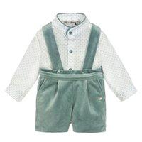 스페인 아기 의류 세례자 아이들 소년 세트 어린이 세트 어린이 소년 셔츠 바지 가을 겨울 생일 드레스 Y1117