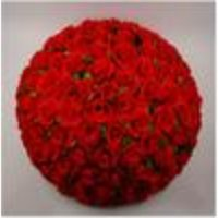 Artificial Encryption Rose Silk Flower Kissing Balls Hanging Ball Christmas Ornaments Wedding Party Decorations 30cm 12inch