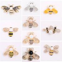 Honey Bee Броши хрустальные насекомые тематические пчелы Брошь животных мода оболочка жемчужная брошь булавка для девочек женщин