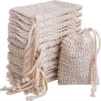 Bolsa de jabón haciendo burbujas de burbujas Saco bolsa de almacenamiento Bolsas de cordón de lazo de la piel Superficie de algodón Limpieza Limpieza Soporte de cordón Suministros de baño CCA3373