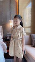 2021 Haute Qualité bébé filles été robes à manches courtes en coton vêtements robes d'enfants Girls Casual Robes Vêtements enfants