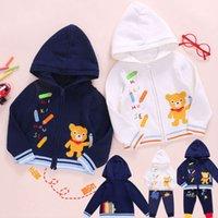 2020 Nouveaux garçons et filles Miki Cartoon Crayon Pencil Heavy Industrie Pull de broderie Long Sve Cardigan Coat