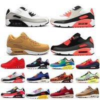 2021 Nouveaux 90s Sports Chaussures Pas cher 90 Hommes Femmes Airs Noir Blanc Infrarefour Royal Denham Sneakers en plein air Classic Designers Chaussures K2R5
