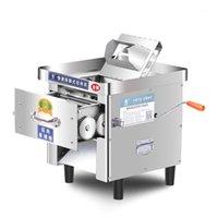 Moedores de carne Máquina de fatiamento comercial cortador automático de aço inoxidável Micing vegetal Slicer Dicing 850W1