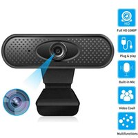 1080P Webcam 2MP Computer Camera Built-in Stereo Microfone USB Webcam Widescreen Vídeo