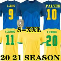 G.Jesus Coutinho 20 21 Brasile Firmino Soccer Jersey Home Away Willian Marcelo Paulinho 2020 2021 Brazil Camicia da calcio Neyma JR
