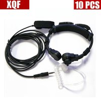 XQF 10PCS Air tube mic earphone 3.5mm Y plug Finger Pfor Yaesu  Vertex Standard walkie talkie VX168 VX2R VX418 VX3R VX5R
