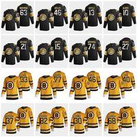 Boston Bruins 2021 Retro Retro Jerseys Brett Ritchie Jersey 74 Jake Debrusk 43 Danton Heinen 83 Karson Kuhlman Sean Kuraly Custom Steyed