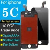 10pcs   lot For iPhone 5C LCD Display Touch Screen Digitizer Full Assembly Replacement Repair Parts With Repair Tool Free A1456 A1507 A1516