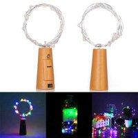 2m 20 LED 미니 병 마개 램프 문자열 막대 장식 문자열 빛 다채로운 빛 지구 색상 전체 고품질 소재 LED 문자열